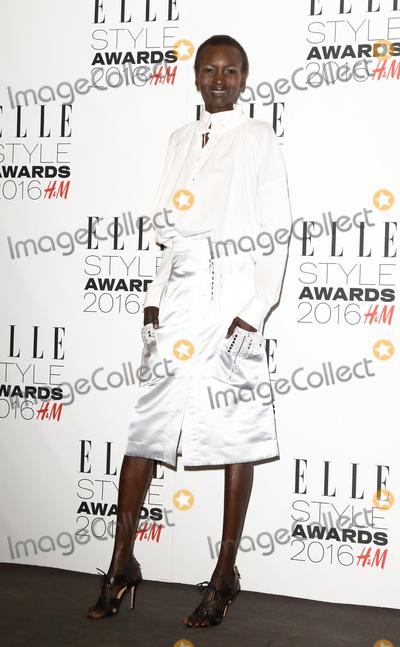 Alek Wek Photo - London UK Alek Wek at Elle Style Awards 2016 inside arrivals at Tate Britain Millbank  London on February 23rd 2016Ref LMK73-60022-240216Keith MayhewLandmark Media WWWLMKMEDIACOM
