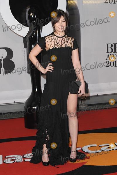 Daisy Lowe Photo - London UK  Daisy Lowe atThe BRIT Awards with MasterCard 2014 Red Carpet arrivals at the 02 Arena London 19th February 2014  RefLMK200-47702-200214Landmark MediaWWWLMKMEDIACOM