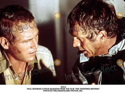Steve Mcqueen Photo - Paul Newman  Steve Mcqueen From the Film the Towering Inferno Photo by OrlandoGlobe Photos Inc