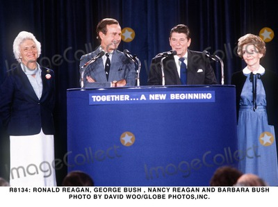 George Bush Photo -  Ronald Reagan George Bush  Nancy Reagan and Barbara Bush Photo by David WooGlobe Photosinc