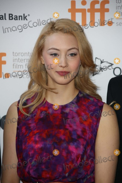 Alan Ball Photo - Actress Sarah Gadon Arrives at Jason Reitmans All-star Cast Live Table Read of Alan Balls Screenplay For American Beauty During the Toronto International Film Festival at Ryerson Theatre in Toronto Canada on 06 September 2012 Photo Alec Michael Photo by Alec Michael-Globe Photos