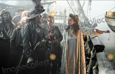Geoffrey Rush Photo - Pirates of the Caribbean Curse of the Black Pearl Movie Stills Supplied by Globe Photos Inc Geoffrey Rush and Kiera Knightley Disneywars