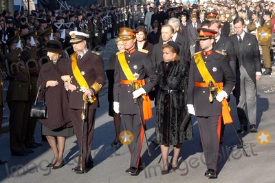 Paola De Belgique Photo - Funeral of Grande Duchesse Josephine Charlotte DE Luxembourg 01-15-2005 Jean Henri Maria-teresa Guillaume DE Luxembourg Albert Et Paola DE Belgique Omedias Le 15  01  05