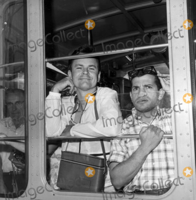 Bob Crane Photo - Bob Crane and Robert Clary on Palm Springs Tram Photo Nate CutlerGlobe Photos Inc