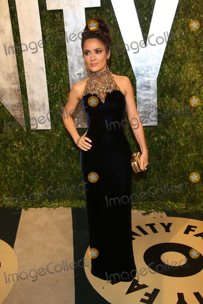 Salma Hayek Photo - Actress Salma Hayek Arrives at the Vanity Fair Oscar Party at Sunset Tower in West Hollywood Los Angeles USA on 24 February 2013 Photo Alec Michael Photo by Alec Michael- Globe Photos Inc