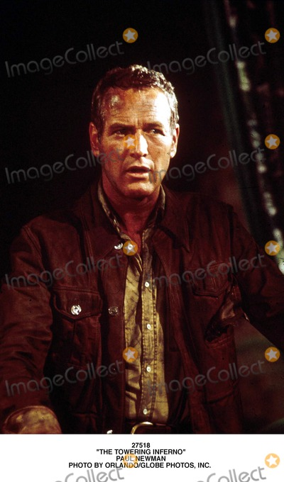 Paul Newman Photo - the Towering Inferno Paul Newman Photo by OrlandoGlobe Photos Inc