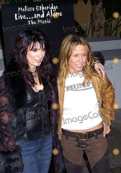 Meredith Brooks Photo - Meredith Brooks and Sheryl Crow K26473eg - Melissa Etheridge liveand Alone the Movie Egyptian Theatre Hollywood CA Sept 30 2002 Photo by Ed Geller EgiGlobe Photos Inc