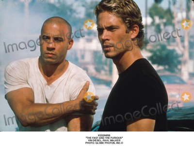Paul Walker Photo - the Fast and the Furious Vin Diesel Paul Walker Photo Globe Photos Inc