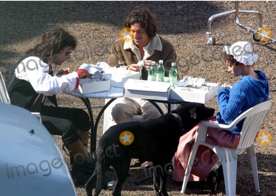 Adriano Giannini Photo - BadiaLapresseGLOBE PHOTOS INC10-03-03 Rome ItalyFilmOn the set of the film Luisa San Felice In the cast of this film there are Laetitia Casta and Adriano Giannini the son of the italian actors Giancarlo In the photo the actors during a breakK29548US RIGHTS ONLY