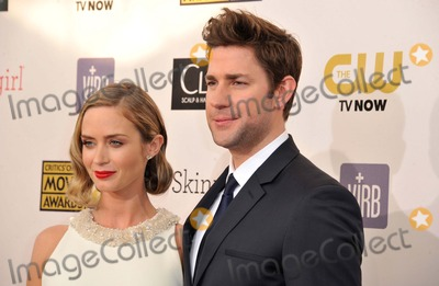 Emily Blunt Photo - Emily Blunt John Krasinski attending the 18th Annual Critics Choice Movie Awards Red Carpet Arrivals Held at Barker Hanger in Santa Monica California on January 10 2013 Photo by D Long- Globe Photos Inc