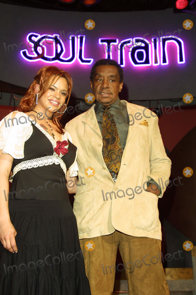 Don Cornelius Photo - Faith Evans and Don Cornelius Soul Train Nominations Stage 30 Paramount Studios Hollywood CA February 07 2002 Photo by Nina PrommerGlobe Photos Inc 2002
