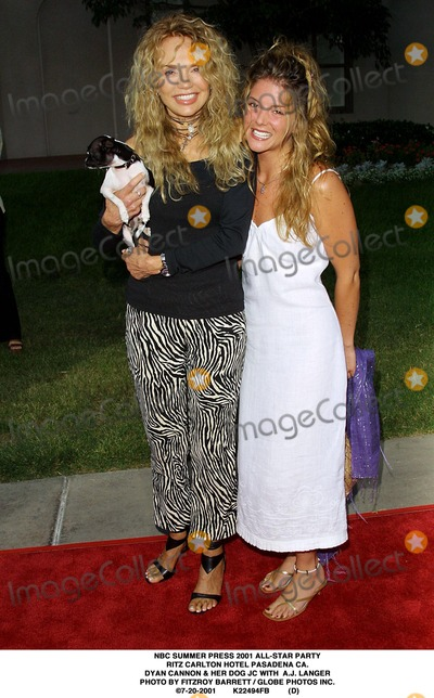 AJ Langer Photo - NBC Summer Press 2001 All-star Party Ritz Carlton Hotel Pasadena CA Dyan Cannon  Her Dog Jc with Aj Langer Photo by Fitzroy Barrett  Globe Photos Inc 7-20-2001 K22494fb (D)