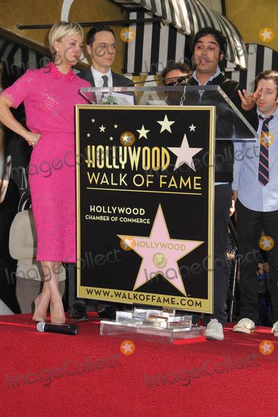 Kunal Nayyar Photo - Kaley Cuoco Honored with Star on the Hollywood Walk of Fame 6621 Hollywood Blvd Hollywood CA 10292014 Kaley Cuoco Kunal Nayyar Jim Parsons and Simon Helberg Clinton H WallaceGlobe Photos Inc