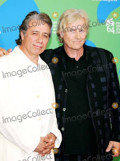 Rutger Hauer Photo - Edward James Olmos and Rutger Hauer Posing After the Press Conference of the Film Blade Runner the Final Cut at the 64th Film Fest in Venice Italy at Palazzo Del Casino on September 1st 2007 Photo by Alec Michael-Globe Photosinc