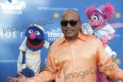 Daymond John Photo - Sesame Streets Grover and Abby Cadabby and Daymond John at Usopen Tennis Gala Red-carpet at Arthur Ashe Stadium 8-25-2014 John BarrettGlobe Photos
