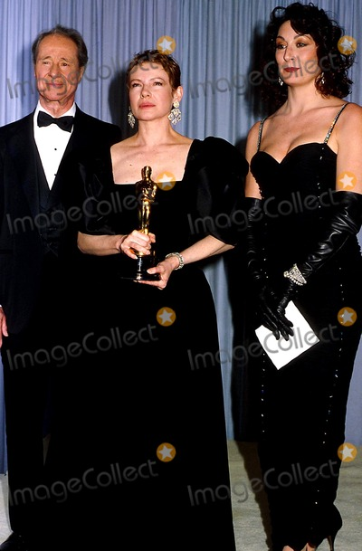 Don Ameche Photo - Academy Awards  Oscars Don Amechediane Wiest  and Anjelica Huston Photophil Roach Ipol Globe Photos Inc
