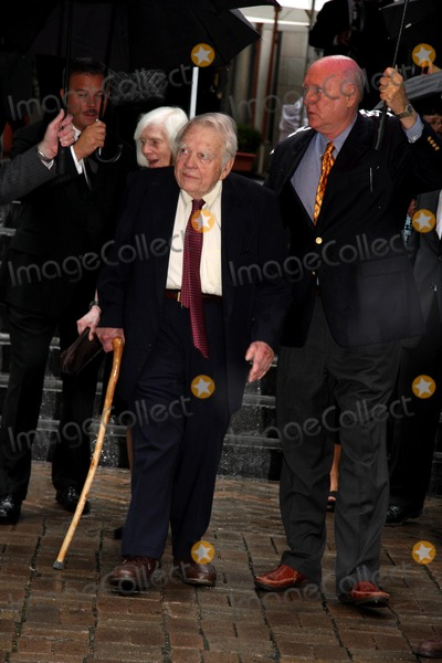 Andy Rooney Photo - Walter Cronkites Funeral at St Bartolomews Church on Park Avenue and 50th Street in New York City 07-23-2009 Photo by William Regan- Globe Photos Inc 2009 Andy Rooney