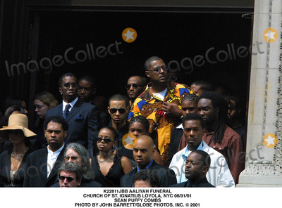 Aaliyah Photo - Aaliyah Funeral Church of St Ignatius Loyola NYC 083101 Sean Puffy Combs Photo by John BarrettGlobe Photos Inc