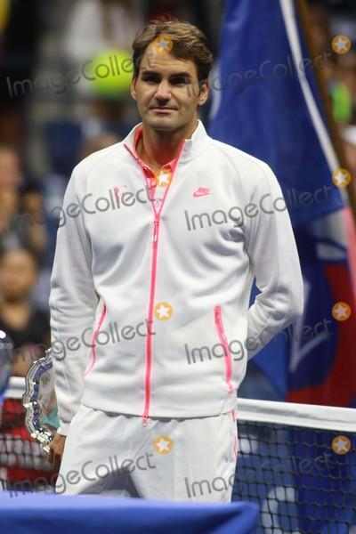 Arthur Ash Photo - Roger Federer Beats Roger Federer to Win Open Tennis Mens Finals at Arthur Ashe Stadium 9-14-2015 John BarrettGlobe Photos