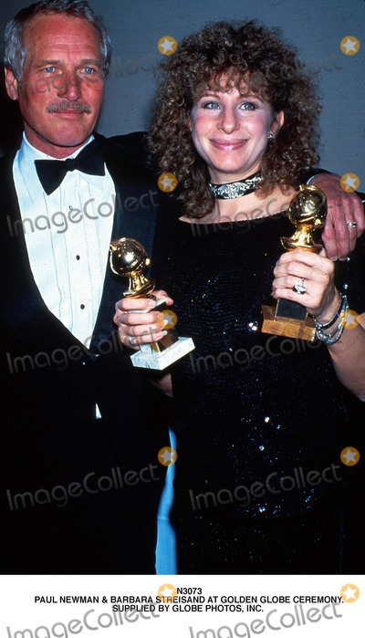 Paul Newman Photo - Paul Newman  Barbara Streisand at Golden Globe Ceremony Supplied by Globe Photos Inc