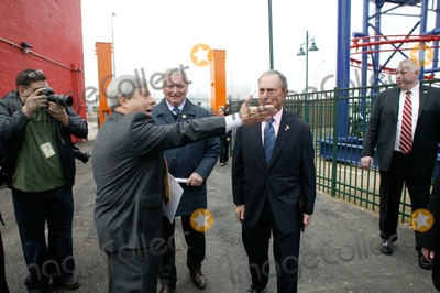 Mayor Bloomberg Photo - Brooklyn NY   Mayor Michael Bloomberg opens Scream Zone  Amusement Park in Coney Island Debut of First New Roller Coasters since the Cyclone opened in 1927 Brooklyn Boro President Marty Markowitz  Antonio Zamperla  Mayor Bloomberg            Bruce Cotler              4  20 11  ANTONIO ZAMPERLA and MICHAEL BLOOMBERG