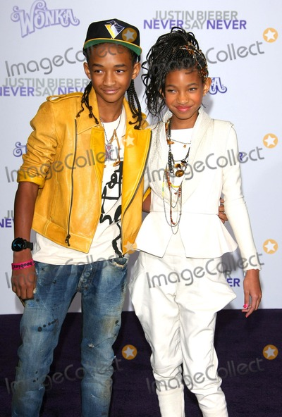 Willow Smith Photo - Jaden Smith Willow Smith Actor and Singer Justin Bieber Never Say Never Los Angeles Premiere - Nokia Theatre LA Live Los Angeles CA 02-08-2011 photo by Graham Whitby Boot-allstar - Globe Photos Inc 2011