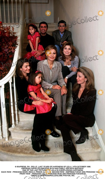 Prince Ali Photo - IMAPRESS PH  ROLLE LAST YEARS OF HAPPINESS OF LEILA 14TH OCTOBER 1998EMPRESS FARAH CELEBRATES WITH HER FAMILY HER 60TH BIRTHDAY ONE OF THE LAST PICTURES OF LEILA IN OVERFLOWING HAPPINESSBACK ROW  PRINCESS NOOR REZA II PRINCE ALI REZA SECOND ROW  EMPRESS FARAH AND PRINCESS YASMINE FRONT ROW  PRINCESS LEILA PRINCESS IMAN AND PRINCESS FARAHNAZCREDIT  IMAPRESSROLLEGLOBE PHOTOS INC