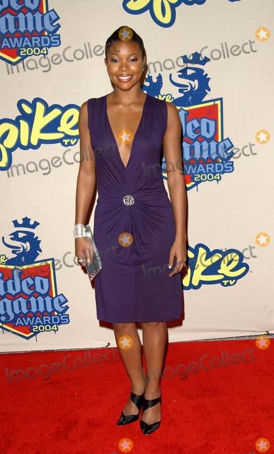Gabrielle Union Photo - Spike Tv Video Game Awards Arrivals at the Barker Hangar in Santa Monica CA 12-14-2004 Photo by Fitzroy Barrett  Globe Photos Inc 2004 Gabrielle Union