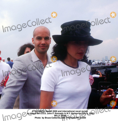 BILLY  ZANE Photo -  Opsail 2000 and International Naval Review on Board the Uss John F Kennedy in NY Harbor For July 4 2000 Billy Zane Photo by Bruce CotlerGlobe Photosinc