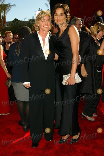 Ellen Degeneres Photo - Ellen Degeneres and Alexandra Hedison 54th Annual Emmy Awards Shrine Auditorium Los Angeles CA Sept 22 2002 Photo by Fitzroy BarrettGlobe Photos Inc 2002