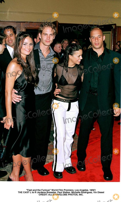 Paul Walker Photo - Fast and the Furious World Film Premiere Los Angeles 1861 the Cast L to R Jordana Brewster Paul Walker Michelle Rodriguez Vin Diesel Credit AllstarGlobe Photos Inc