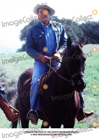 Ronald Reagan Photo - Ronald Reagan at His Santa Barbara Ranch Ron MesarosGlobe Photos Inc