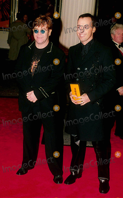 Elton John Photo - Elton John with David Furnish at the Opening Night of the New Musical the Lion King 10-19-1999 Photo by Uppa-ipol-Globe Photos Inc