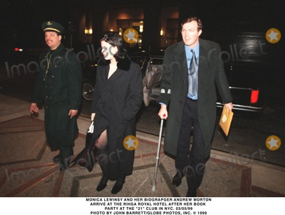 Andrew Morton Photo - 0599 Monica Lewinsky and Her Biographer Andrew Morton Arrive at the Rihga Royal Hotel After He Book Party at the 21 Club in NYC Photo by John BarrettGlobe Photosinc