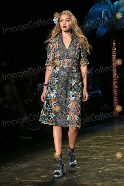 Anna Sui Photo - Gigi Hadid Walks in the Anna Sui Fashion Show Skylight at Moynihan Station NYC September 16 2015 Photos by Sonia Moskowitz Globe Photos Inc