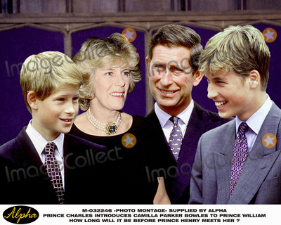 Camilla Parker-Bowles Photo - Photomontage Prince Charles Introduces Camilla Parker Bowles to Prince William  How Long Will It Be Before Prince Henry Meets Her