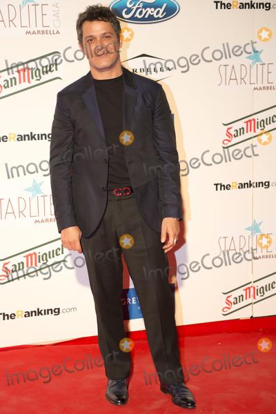 Alejandro Sanz Photo - MARBELLA SPAIN August 10 Alejandro Sanz atends red carpet photocall at Starlite Gala 2013 in Marbella Spain