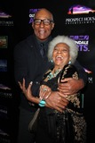 Photo - Michael Dorn Nichelle Nicholsat the Star Trek Generations Screening with Malcolm McDowell as part of the Malcolm McDowell series of QA screenings Alex Theater Glendale CA 04-15-14