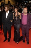 Vincent Cassel Photo - Actress MONICA BELLUCCI  actor husband VINCENT CASSEL with director GASPER NOE at the Cannes Film Festival for the world premiere of their movie Irreversible24MAY2002   Paul Smith  Featureflash