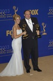 Photo - JAMES GANDOLFINI  EDIE FALCO at the 55th Annual Emmy Awards in Los AngelesSept 21 2003