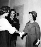 Jacqueline Kennedy Onassis Photo - Mrs Hugh D Auchincloss Mother of Jacqueline Kennedy Onassis Greets Friends at a Recent Washington Party 21961 Globe Photos Inc Jacquelinekennedyonassisobit