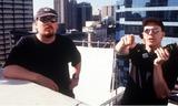 ANDY  LARRY WACHOWSKI Photo -  the Matrix Directors Andy and Larry Wachowski Supplied by Globe Photos Incrangefinders
