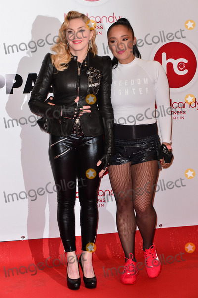 Nicole Winhoffer Photo - Madonna (here with Nicole Winhoffer Personal Trainer) officially opens its first Hard Candy Fitness club in Berlin The club in the Clayallee 171-177 is the first in a series of Hard Candy Fitness locations in the city Berlin 17102013 Credit Timm  face to face face to face