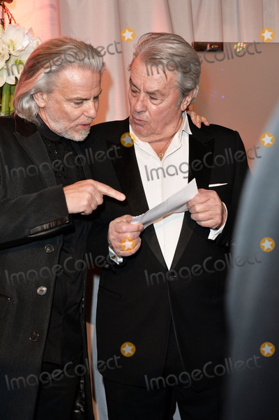 Alain Delon Photo - Hermann Buehlbecker and Alain Delon arriving for the 326 Years Lambertz Monday Night 2014 Event in the Alter Wartesaal Cologne Cologne 27012014 Credit Timmface to face