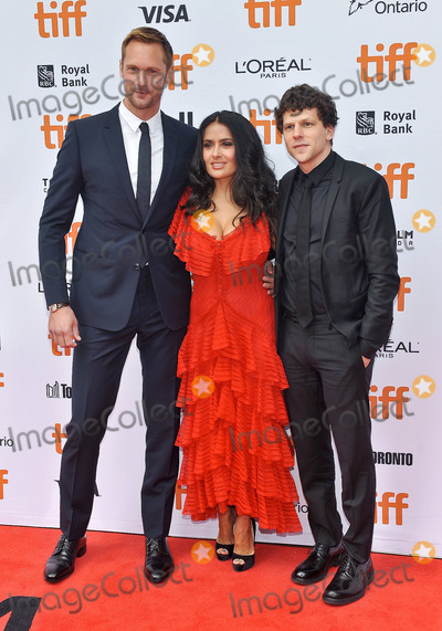 Alexander Skarsgrd Photo - 08 September 2018 - Toronto Ontario Canada - Alexander Skarsgrd Salma Hayek Jesse Eisenberg The Hummingbird Project Premiere - 2018 Toronto International Film Festival held at the Princess of Wales Theatre Photo Credit Brent PerniacAdMedia