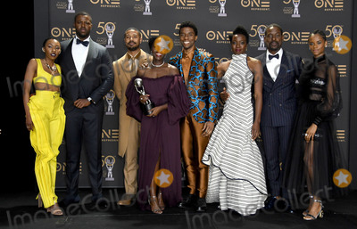 Black Panther Photo - 30 March 2019 - Hollywood California - Cast of Black Panther 2019 NAACP Image Awards - Press Room held at Dolby Theater Photo Credit Birdie ThompsonAdMedia