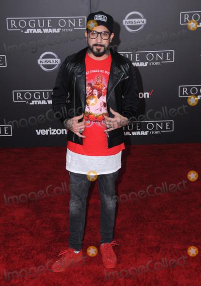 AJ MCLEAN Photo - 10 December 2016 - Hollywood California - AJ McLean Rogue One A Star Wars Story World premiere held at Pantages Theater Photo Credit Birdie ThompsonAdMedia