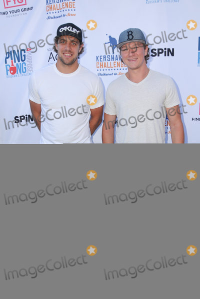 Anze Kopitar Photo - 11 August 2016 - Los Angeles California Anze Kopitar Tyler Toffoli Clayton Kershaws 4th Annual Ping Pong 4 Purpose Celebrity Tournament held at Dodger Stadium Photo Credit Birdie ThompsonAdMedia