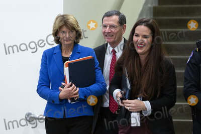 Alaska  Photo - United States Senator Lisa Murkowski (Republican of Alaska) and United States Senator John Barrasso (Republican of Wyoming) walk through the Senate Subway after a vote passed to deny any new witnesses in the impeachment trial of United States President Donald J Trump on Capitol Hill in Washington DC US on Friday January 31 2020 Credit Stefani Reynolds  CNPAdMedia