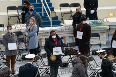 Barack Obama Photo - A stand in for former President president Barack Obama participates in during a dress rehearsal ahead of the 59th Inaugural Ceremonies on the West Front of the US Capitol in Washington DC US Monday Jan 18 2021 Biden ascends to the presidency on Wednesday with an inaugural speech outlining how hell tackle the health and economic crises he inherits while attempting to knit the country back together just two weeks after the outgoing presidents loyalists waged a deadly riot to block the change of power Credit Jeenah Moon  Pool via CNPAdMedia